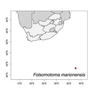 Folsomotoma marionensis Map