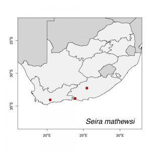Seira mathewsi Map