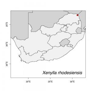 Xenylla rhodesiensis Map